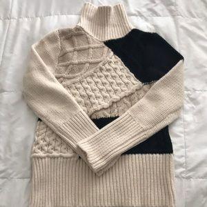 Dex Geo Print Turtleneck Sweater
